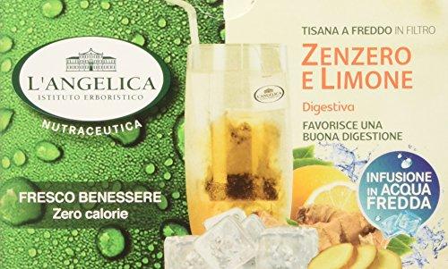 L'angelica tisana funzionale a freddo zenzero e limone - pacco da 10 x 26 g