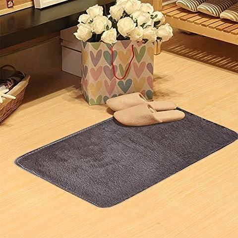Iuhan Mode Fluffy Tapis antidérapant Shaggy Tapis Zone salle à manger Maison Chambre à coucher Tapis Tapis de sol 50x 80cm gris