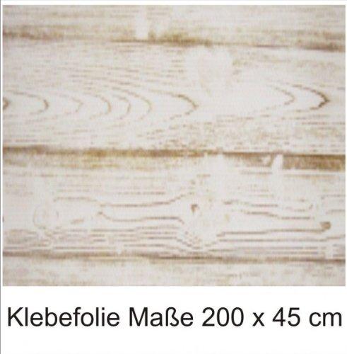 *Klebefolie 200x45cm Eiche weiß Holzoptik Dekofolie Selbstklebefolie Möbelfolie*