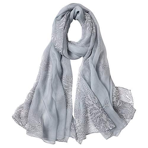 STORY OF SHANGHAI donna avvolge sciarpa scialle di seta di gelso stampa fiore grande 1727x 1092
