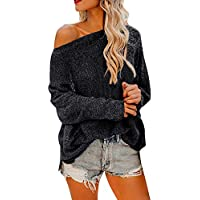Hanomes Damen pullover, Frauen Casual Lady Kalte Schulter Langarm Solid Pullover Tops Bluse Shirt preisvergleich bei billige-tabletten.eu