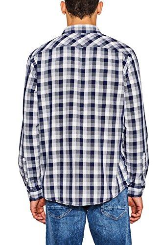 edc by Esprit 087cc2f004, Camicia Uomo Blu (Navy 400)