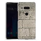 DeinDesign HTC U12 Plus Hülle Case Handyhülle Beton Concrete Stone