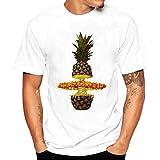 Kanpola Herren T-Shirts Slim Fit Printing Tee Rundhals Sweatshirt Basic Kurzarm Shirt