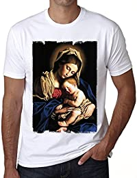 Mary Baby Jesus H T-shirt,cadeau,Homme,Blanc,t shirt homme