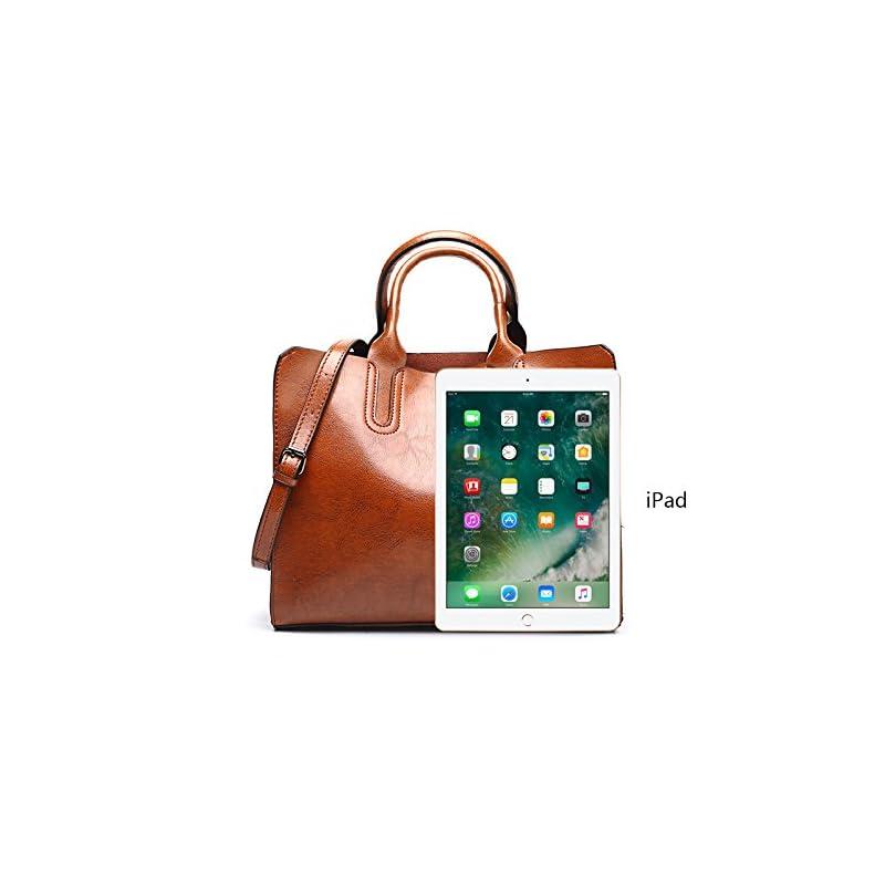 VECHOO Fashion Ladies Handbags, Girls Satchel, Elegant Top-Handle Bag, Vintage Shoulder Bag