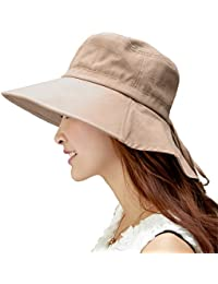 Siggi Summer Ladies UPF 50 Sun Hats Women Wide Brim Packable Neck  Protection Chin Strap f4b2c05145ee