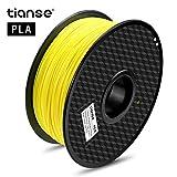 TIANSE Imprimante 3D Filament PLA 1.75 mm 1KG, Jaune fluorescent