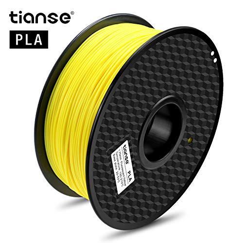 TIANSE Filamento de PLA para la impresora 3D / Pluma 3d, 1 kg 1,75 mm(Amarillo fluorescente)