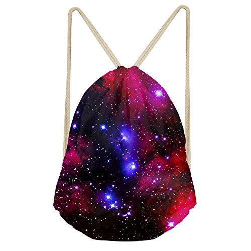 ChAQLIN Galaxy Space Jungen Rucksack Mädchen Schulter Reise Schwimmbeutel Kordelzug Tasche, Damen, S-C0162Z3, Galaxy 2, S