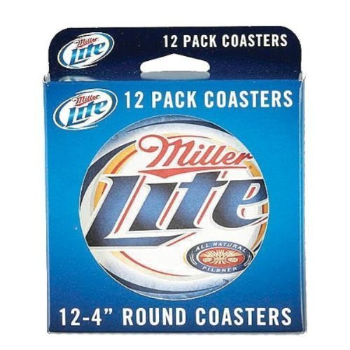 miller-lite-12-pack-4-inch-round-coasters-by-miller