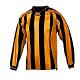 Prostar Avellino 100% Polyester Jersey mit vertikalen Streifen Design - 24/26, Schwarz-Bernstein