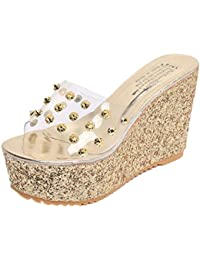 hunpta Slippers, Summer Transparent Platform Waterproof Sandals Wedge Sandals Women Slippers