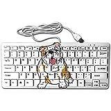 English Bulldog Mini Keyboard Wired Thin Light 78 Keys USB For Pc Computer Laptop
