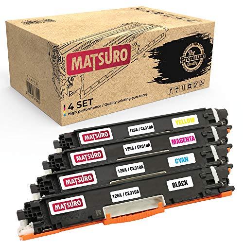 Matsuro Original | Kompatibel Tonerkartusche Ersatz für HP 126A CE310A CE311A CE312A CE313A (1 Set)