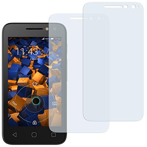 mumbi Schutzfolie kompatibel mit Alcatel Pixi 4 4 Zoll Folie klar, Bildschirmschutzfolie (2x)
