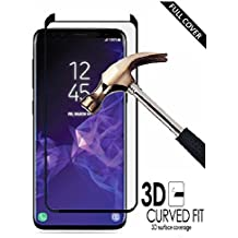 Samsung Galaxy S9 Plus Tempered Glass Screen Protector, By DN-Alive [Not For Galaxy S9] [3D Glass] [Black] [9H Hardness] [Anti Scratch] [Shatter Proof] [Easy Installation] [Full Cover Tempered Glass- Edge To Edge] [Galaxy S9 Plus Case Compatible]