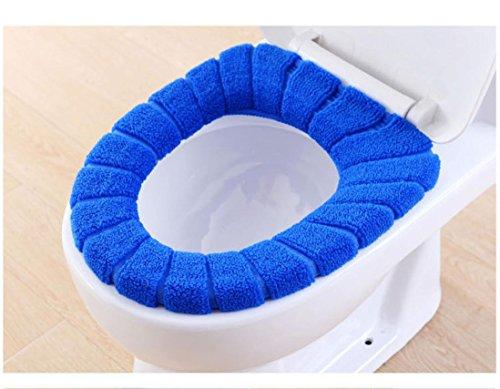 artistic9(TM) WC-Sitz Cover–Universal Passform weicher Samt Coral WC-Sitz cushion-machine waschbar, blau, 29m