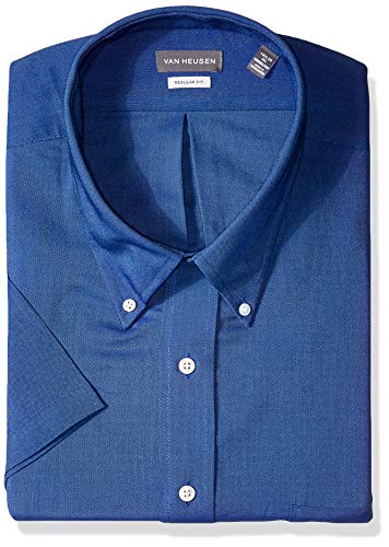 Blended Oxford (Men's Classic Short-Sleeve Oxford ENGLISH BLUE XL)