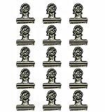 Kesoto 24 Grandi Clips in Acciaio Placcato Mollette in Acciaio per Busta o Sacchetto di Alimentari o per Sistemazione di Carte