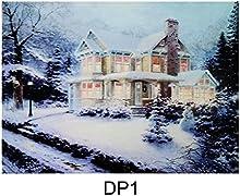 Navidad Lienzo Impresión de gran tamaño con luces LED Festive-arte de la pared decoración 40cm x 30cm