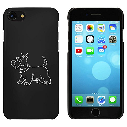 Azeeda Schwarz 'Scottish Terrier' Hülle für iPhone 7 (MC00085308) -