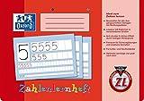 OXFORD 100050304 Zahlenlernheft Schule 10er Pack A4 quer 16 Blatt Lineatur ZL (1. Klasse) perforiert und gelocht rot