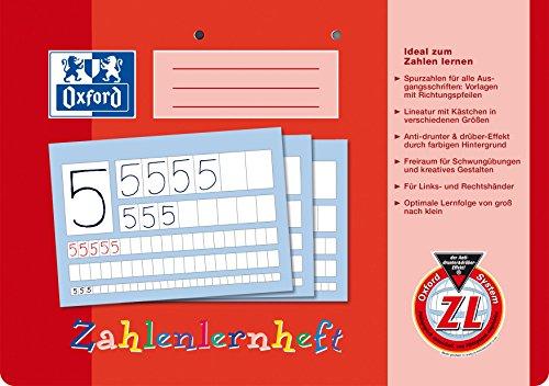 Oxford Zahlenlernheft, A4 quer, Lineatur ZL (1. Klasse)