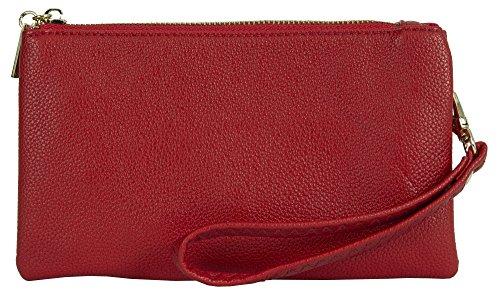 Big Handbag Shop, Borsetta da polso donna Style 2 - Red