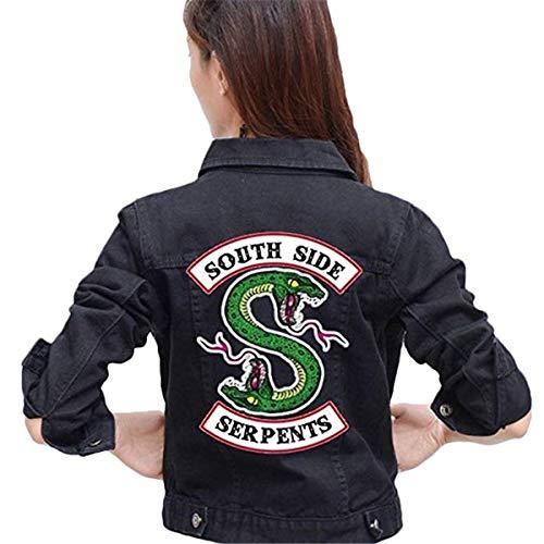 FAIRYRAIN Riverdale Southside Serpents Denim Jacket für Teenager Mädchen Herbst und Winter Damen Jeansjacke Kostüm ()