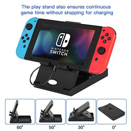 Kit de Accesorios 13 en 1 Para Nintendo Switch,  Funda Protectora Para Interruptor Nintendo,  Protector de Pantalla,  Cubierta Transparente Para Interruptor, Tapas Para Empuñadura de Pulgar
