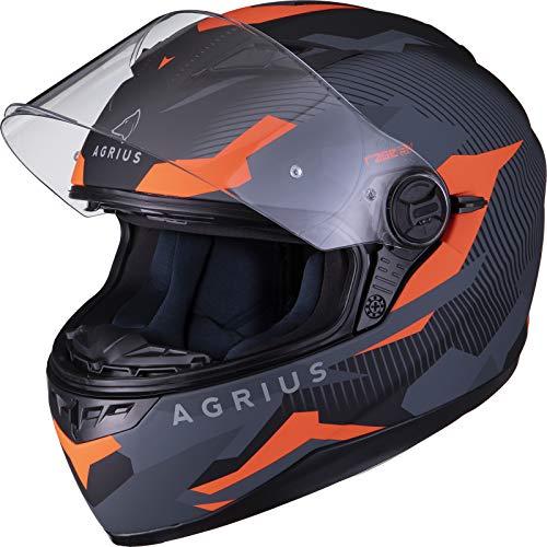 Agrius Rage SV Tracker Motorradhelm M matt schwarz/Fluro orange