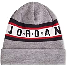 Jordan Gorro (Beanie) Air Cuffed Gris OSFA (Talla única para Todos ...