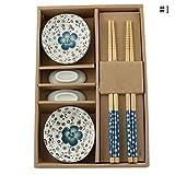 Blue Vessel Chinesische Art Keramik Geschirr Set Stäbchen Untertasse Schüsseln Kreatives Geschenk.Ceramic Bowls Chopsticks Gift