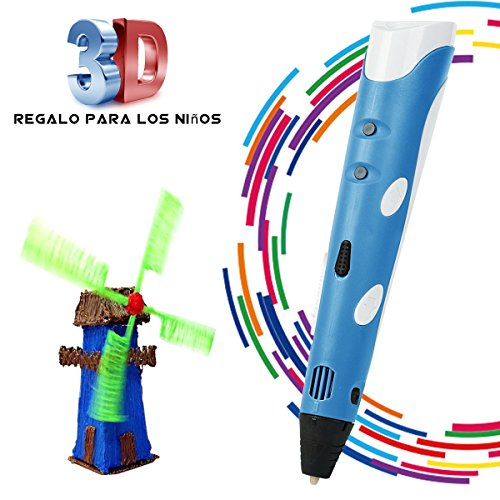 BANGBO Intelligent 3D Stereo Drawing Pen for Doodling, Art and Craft Making Compatible with PLA / ABS Filaments Best Gift DIY 3D Modeling for Kids or Friend, Blue (Besten Stereo)