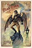 The Black Baron, where angels fear to fly. Steam Punk in London. Skulls. Alchomy, gothic, comic book charactor. Tattoo design. Medium Metal/Steel Wall Sign