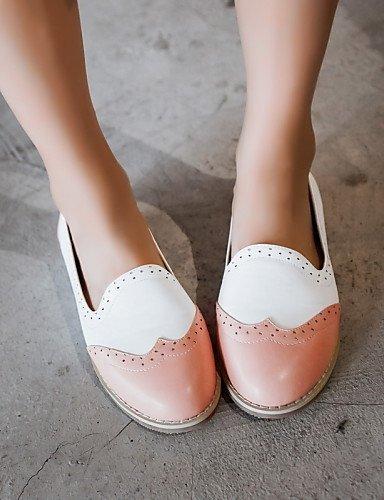 ShangYi gyht Scarpe Donna-Mocassini-Ufficio e lavoro / Casual-Comoda / Ballerina-Piatto-Finta pelle-Nero / Blu / Rosa Pink