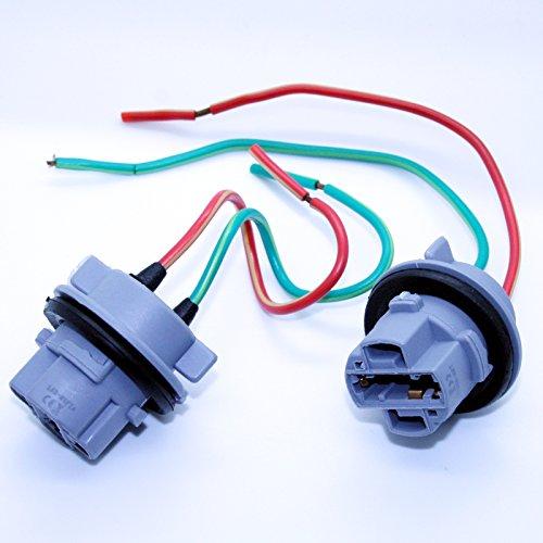 Preisvergleich Produktbild LED-Mafia 2X 7440 T20 W21 / 5W Sockel Lampenfassung Reparatur Kabel Lampe Stecker Fassung