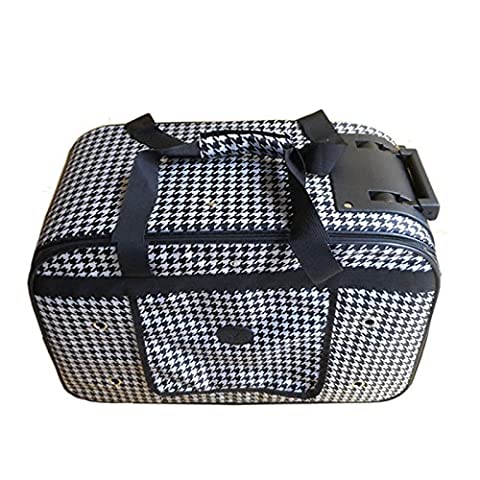 KAI-Faites pivoter le levier animal chiens et chats animaux package package portable out?58X27X38cm?Black and white
