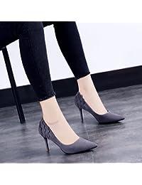 GAOLIM Punta Fina Con Zapatos De Tacón Alto Solo Zapatos Negro Mujeres En Primavera, Verano Y Otoño Zapatos De...