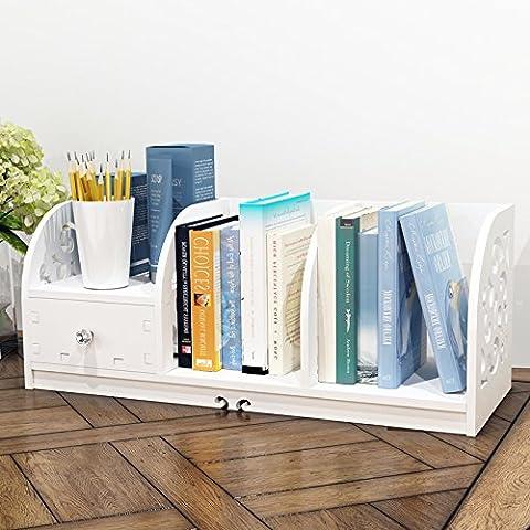 Desktop piccolo scaffale scaffali rack sul tavolo consolidamento dello storage di asciugamano rack studenti minimalista moderna reception