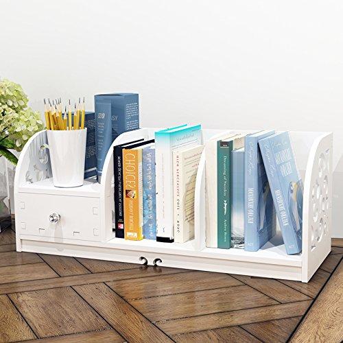 ZAIG High Quality kleinen Desktop-Bücherregal Einfache Tabelle Bücherregal Regal Handtuchwärmer Moderne Minimalist Kinder Schreibtisch Student Housing-Management-Arm (High Bücherregal)