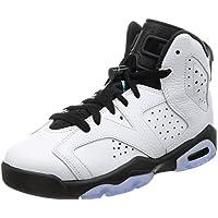 nike jordan enfants air jordanie jordanie jordanie 6 rétro bg Blanc  / Blanc  / hyper - jade / Noir  chaussure de basket 7 enfants nous f16e7b