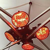 ACTIEXPRESS Chauffage Extérieur à 4 Lampes/2 Lampes, 2000W/1600W IP23 pour Tente chapiteau Barnum et Parasol (Chauffage…