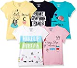 #1: Cherokee Girls' Plain Regular Fit T-Shirt(Pack of 5)