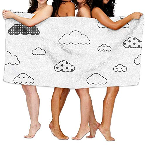 Gebrb Duschtücher/Badetücher,Strandtücher, Bath Towels, Cute Clouds Super Soft Ultra Absorbent Bath Towel for Men Women Kids, Bathroom Accessories