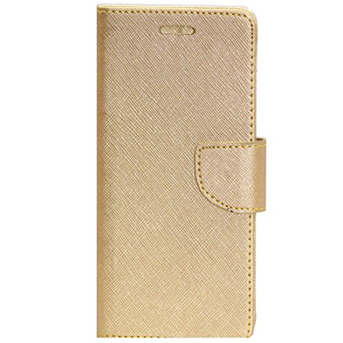 Zaoma Diary Type Flip Cover for Gionee S6s – Gold