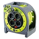Masterplug HMF15164SL-PX - Enrollacable color Verde