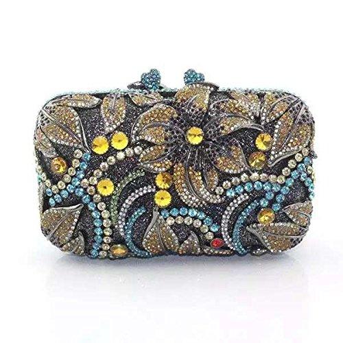 Frauen Luxuxdiamantentwurfs Abendtasche Hochzeit Tasche Lady Handtasche Yellow