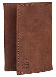 Aditi Wasan Genuine Leather Tri-Fold Brown Wallet
